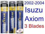 2002-2004 Isuzu Axiom Replacement Wiper Blade Set/Kit (Set of 3 Blades) (Goodyear Wiper Blades-Assurance) (2003)