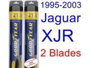1995-2003 Jaguar XJR Replacement Wiper Blade Set/Kit (Set of 2 Blades) (Goodyear Wiper Blades-Assurance) (1996,1997,1998,1999,2000,2001,2002)