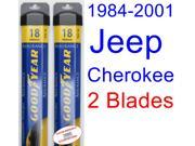 1984-2001 Jeep Cherokee Replacement Wiper Blade Set/Kit (Set of 2 Blades) (Goodyear Wiper Blades-Assurance) (1985,1986,1987,1988,1989,1990,1991,1992,1993,1994,1