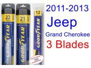 2011-2013 Jeep Grand Cherokee Replacement Wiper Blade Set/Kit (Set of 3 Blades) (Goodyear Wiper Blades-Assurance) (2012)