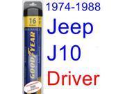 1974-1988 Jeep J10 Wiper Blade (Driver) (Goodyear Wiper Blades-Assurance) (1975,1976,1977,1978,1979,1980,1981,1982,1983,1984,1985,1986,1987)