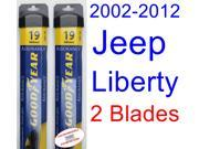 2002-2012 Jeep Liberty Replacement Wiper Blade Set/Kit (Set of 2 Blades) (Goodyear Wiper Blades-Assurance) (2003,2004,2005,2006,2007,2008,2009,2010,2011)