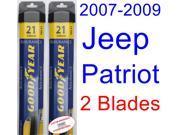 2007-2009 Jeep Patriot Replacement Wiper Blade Set/Kit (Set of 2 Blades) (Goodyear Wiper Blades-Assurance) (2008)