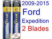 2009-2015 Ford Expedition Replacement Wiper Blade Set/Kit (Set of 2 Blades) (Goodyear Wiper Blades-Assurance) (2010,2011,2012,2013,2014)