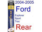 2004-2005 Ford Explorer Sport Trac Wiper Blade (Rear) (Goodyear Wiper Blades-Assurance)
