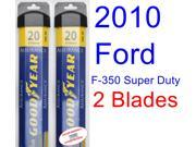 2010 Ford F-350 Super Duty Replacement Wiper Blade Set/Kit (Set of 2 Blades) (Goodyear Wiper Blades-Assurance)