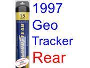 1997 Geo Tracker Wiper Blade (Rear) (Goodyear Wiper Blades-Assurance)