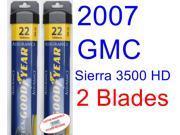 2007 GMC Sierra 3500 HD Replacement Wiper Blade Set/Kit (Set of 2 Blades) (Goodyear Wiper Blades-Assurance)
