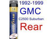 1992-1999 GMC C2500 Suburban Wiper Blade (Rear) (Goodyear Wiper Blades-Assurance) (1993,1994,1995,1996,1997,1998)