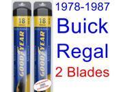1978-1987 Buick Regal Replacement Wiper Blade Set/Kit (Set of 2 Blades) (Goodyear Wiper Blades-Assurance) (1979,1980,1981,1982,1983,1984,1985,1986)