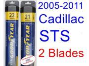 2005-2011 Cadillac STS Base Replacement Wiper Blade Set/Kit (Set of 2 Blades) (Goodyear Wiper Blades-Assurance) (2006,2007,2008,2009,2010)