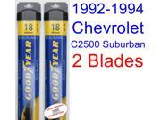 1992-1994 Chevrolet C2500 Suburban Replacement Wiper Blade Set/Kit (Set of 2 Blades) (Goodyear Wiper Blades-Assurance) (1993)