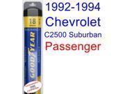 1992-1994 Chevrolet C2500 Suburban Wiper Blade (Passenger) (Goodyear Wiper Blades-Assurance) (1993)