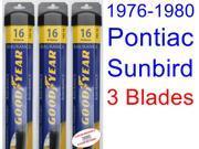 1976-1980 Pontiac Sunbird Replacement Wiper Blade Set/Kit (Set of 3 Blades) (Goodyear Wiper Blades-Assurance) (1977,1978,1979)