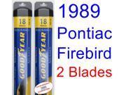 1989 Pontiac Firebird Trans Am GTA SE Replacement Wiper Blade Set/Kit (Set of 2 Blades) (Goodyear Wiper Blades-Assurance) 9SIA89T36Y6243