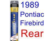 1989 Pontiac Firebird Trans Am GTA SE Wiper Blade (Rear) (Goodyear Wiper Blades-Assurance) 9SIA89T36Y6227