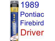 1989 Pontiac Firebird Trans Am GTA SE Wiper Blade (Driver) (Goodyear Wiper Blades-Assurance) 9SIA89T36Y0622