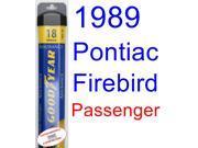 1989 Pontiac Firebird Trans Am GTA SE Wiper Blade (Passenger) (Goodyear Wiper Blades-Assurance) 9SIA89T36Y6274