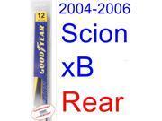 2004-2006 Scion xB Wiper Blade (Rear) (Goodyear Wiper Blades-Assurance) (2005)