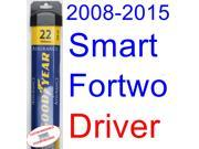 2008-2015 Smart Fortwo Wiper Blade (Driver) (Goodyear Wiper Blades-Assurance) (2009,2010,2011,2012,2013,2014)