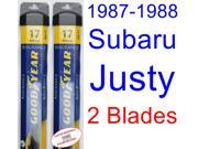 1987-1988 Subaru Justy Replacement Wiper Blade Set/Kit (Set of 2 Blades) (Goodyear Wiper Blades-Assurance)