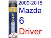 2009-2015 Mazda 6 Wiper Blade (Driver) (Goodyear Wiper Blades-Assurance) (2010,2011,2012,2013,2014) 9SIA89T36Y1072