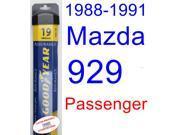 1988-1991 Mazda 929 Wiper Blade (Passenger) (Goodyear Wiper Blades-Assurance) (1989,1990)