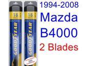 1994-2008 Mazda B4000 Replacement Wiper Blade Set/Kit (Set of 2 Blades) (Goodyear Wiper Blades-Assurance) (1995,1996,1997,1998,1999,2000,2001,2002,2003,2004,200 9SIA89T36Y4176
