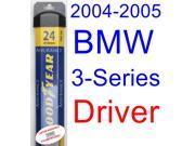 2004-2005 BMW 3-Series Coupe Wiper Blade (Driver) (Goodyear Wiper Blades-Assurance)
