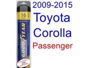 2009-2015 Toyota Corolla S Wiper Blade (Passenger) (Goodyear Wiper Blades-Assurance) (2010,2011,2012,2013,2014)