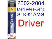 2002-2004 Mercedes-Benz SLK32 AMG Base Wiper Blade (Driver) (Goodyear Wiper Blades-Assurance) (2003)