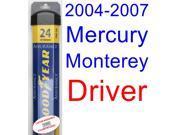 2004-2007 Mercury Monterey Wiper Blade (Driver) (Goodyear Wiper Blades-Assurance) (2005,2006)