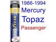 1986-1994 Mercury Topaz Wiper Blade (Passenger) (Goodyear Wiper Blades-Assurance) (1987,1988,1989,1990,1991,1992,1993)