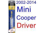 2002-2014 Mini Cooper Wiper Blade (Driver) (Goodyear Wiper Blades-Assurance) (2003,2004,2005,2006,2007,2008,2009,2010,2011,2012,2013)
