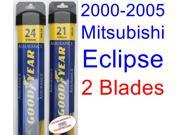 2000-2005 Mitsubishi Eclipse Replacement Wiper Blade Set/Kit (Set of 2 Blades) (Goodyear Wiper Blades-Assurance) (2001,2002,2003,2004)