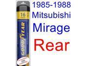1985-1988 Mitsubishi Mirage Wiper Blade (Rear) (Goodyear Wiper Blades-Assurance) (1986,1987)
