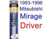 1993-1996 Mitsubishi Mirage Wiper Blade (Driver) (Goodyear Wiper Blades-Assurance) (1994,1995)