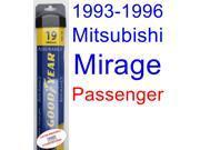 1993-1996 Mitsubishi Mirage Wiper Blade (Passenger) (Goodyear Wiper Blades-Assurance) (1994,1995)