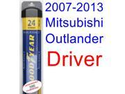 2007-2013 Mitsubishi Outlander Wiper Blade (Driver) (Goodyear Wiper Blades-Assurance) (2008,2009,2010,2011,2012)