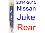 2014-2015 Nissan Juke Wiper Blade (Rear) (Goodyear Wiper Blades-Assurance)