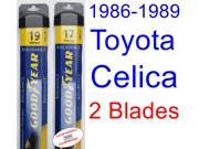 1986-1989 Toyota Celica Replacement Wiper Blade Set/Kit (Set of 2 Blades) (Goodyear Wiper Blades-Assurance) (1987,1988)