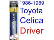 1986-1989 Toyota Celica Wiper Blade (Driver) (Goodyear Wiper Blades-Assurance) (1987,1988)