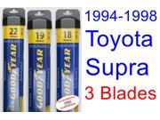 1994-1998 Toyota Supra Replacement Wiper Blade Set/Kit (Set of 3 Blades) (Goodyear Wiper Blades-Assurance) (1995,1996,1997)