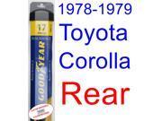 1978-1979 Toyota Corolla Custom Wiper Blade (Rear) (Goodyear Wiper Blades-Assurance)