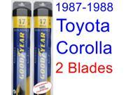 1987-1988 Toyota Corolla FX Replacement Wiper Blade Set/Kit (Set of 2 Blades) (Goodyear Wiper Blades-Assurance)