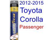 2012-2015 Toyota Corolla L Wiper Blade (Passenger) (Goodyear Wiper Blades-Assurance) (2013,2014)