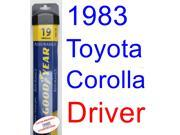 1983 Toyota Corolla SR5 Wiper Blade (Driver) (Goodyear Wiper Blades-Assurance)