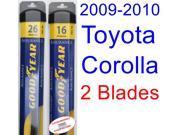 2009-2010 Toyota Corolla XRS Replacement Wiper Blade Set/Kit (Set of 2 Blades) (Goodyear Wiper Blades-Assurance)