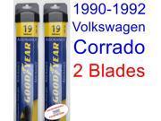 1990-1992 Volkswagen Corrado Replacement Wiper Blade Set/Kit (Set of 2 Blades) (Goodyear Wiper Blades-Assurance) (1991)