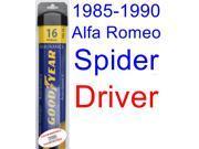 1985-1990 Alfa Romeo Spider Graduate Wiper Blade (Driver) (Goodyear Wiper Blades-Assurance) (1986,1987,1988,1989)